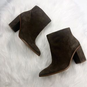 1. State Brown Suede Ankle Booties